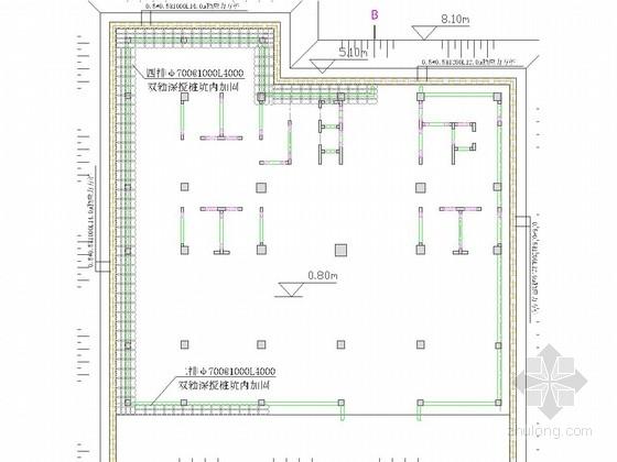 [江苏]酒店地下室基坑桩锚支护施工图