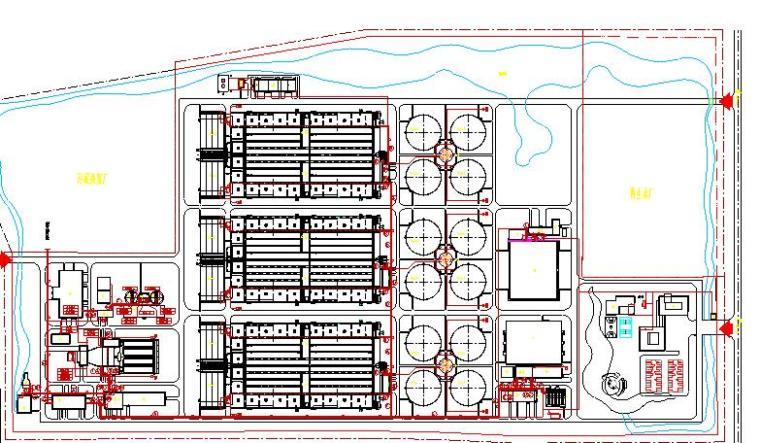 纪庄子污水处理厂迁建工程图纸-电缆总平面布置图