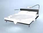 现代双人床3D模型下载