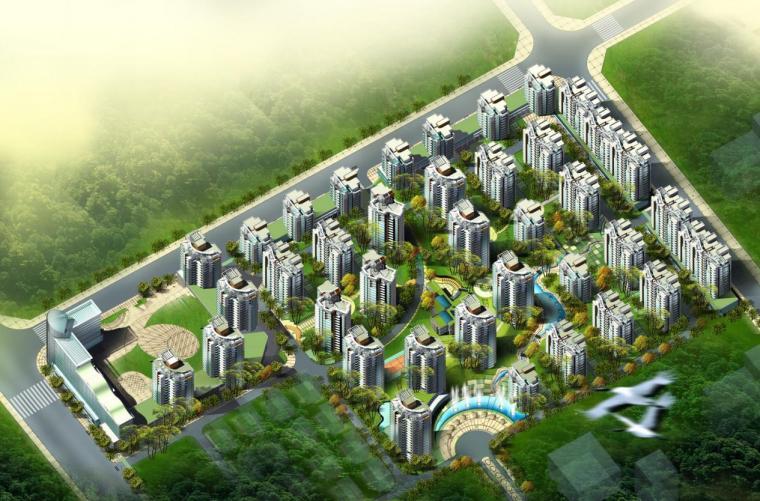 [台州]高层现代风格垂直线条立面住宅建筑设计方案文本(含CAD)