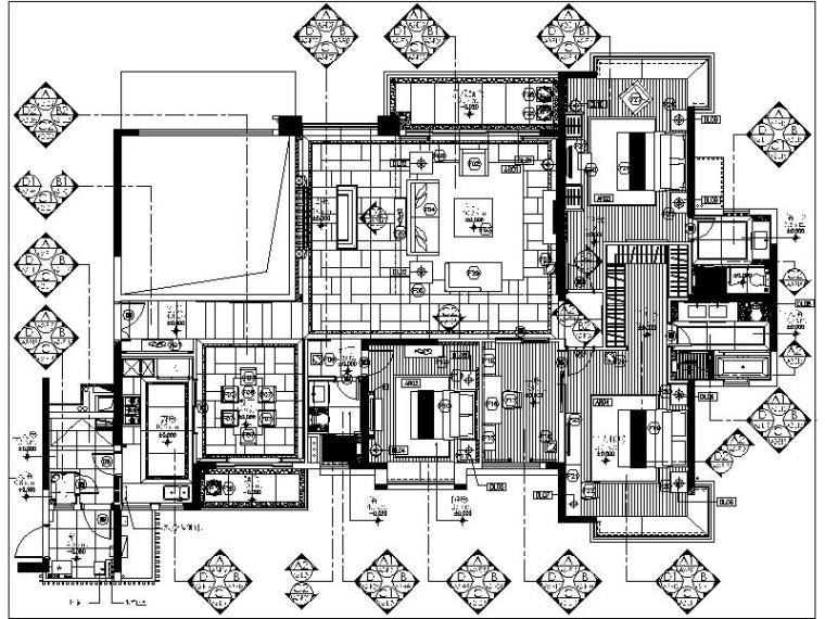 [广州]一套详细完整的样板间设计施工图
