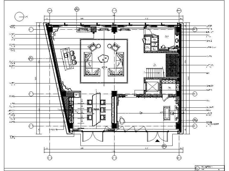[上海]全套精致奢华别墅样板间设计施工图(含效果图+物料表)