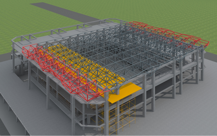龙山县体育中心体育馆项目钢结构施工方案(正放四角锥焊接球网架)