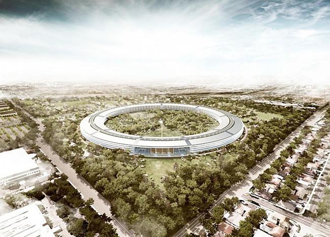 """苹果公司员工开始迁入福斯特事务所设计的新""""家"""""""