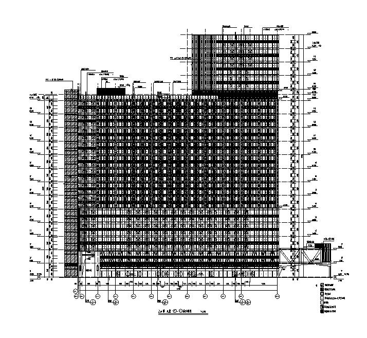 [福建]高层框架剪力墙商业购物中心施工图(万科知名地产图纸)