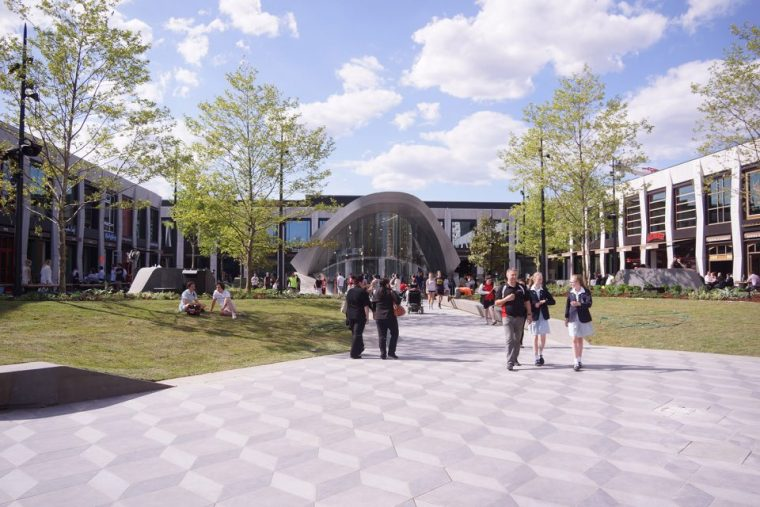 [建筑案例]Eastland广场和Realm图书馆