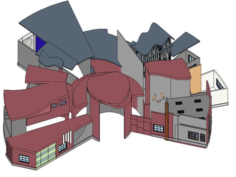 BIM模型-revit模型-幼儿园设计方案模型