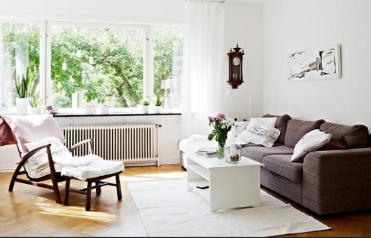 白色清新家简约时尚北欧风格二居室实景图