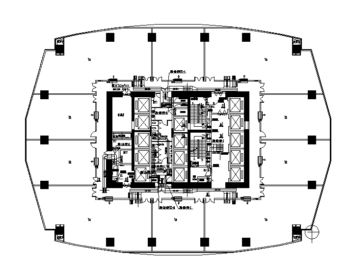 西安39层超高大型商业综合体暖通施工图(20万平-170米)
