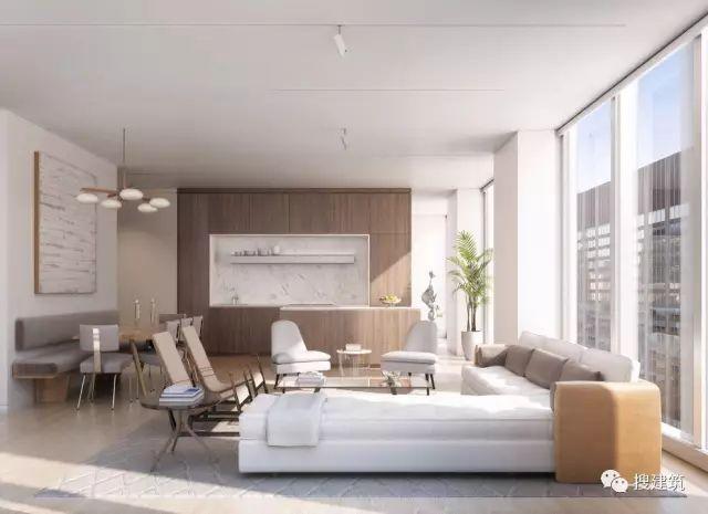 """万科在纽约开发的""""新地标住宅"""",高200米,1000-1600平方英尺的_23"""