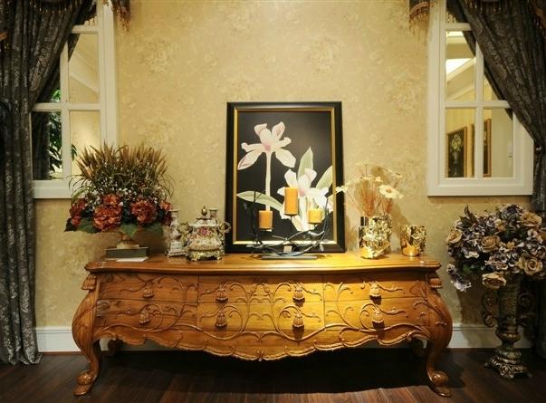 顶级欧式家具柚木制作