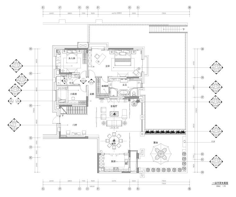 [四川]万科新中式古典样板间设计(附效果图及材料清单)