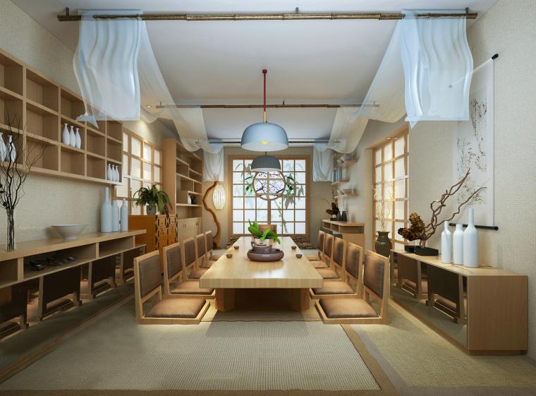 日式榻榻米和室3D模型