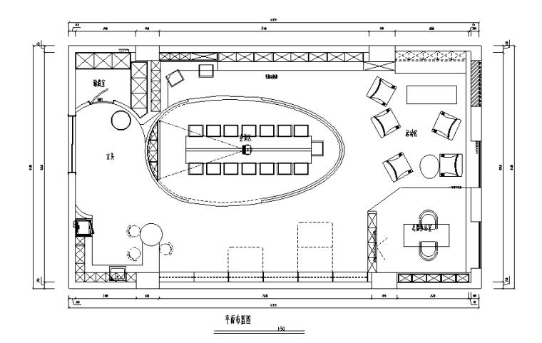 [四川]160平米小巨蛋办公空间设计施工图(附效果图)