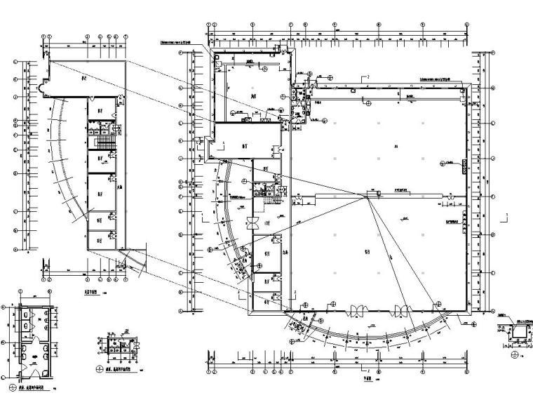 某职工食堂建筑设计方案初设图CAD