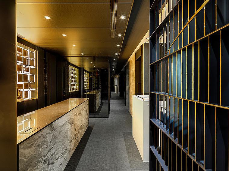 运用LED光箱组成的办公室室内实景图 (1)