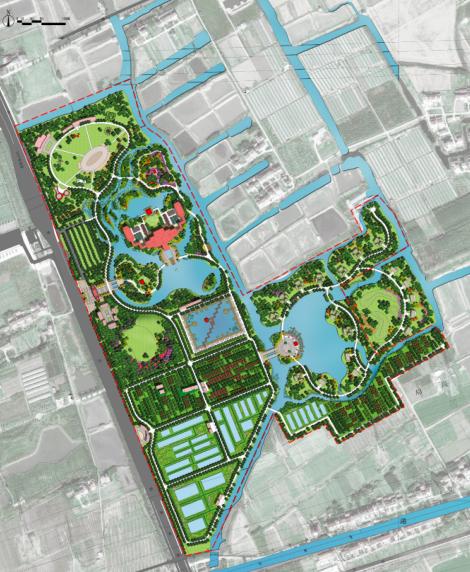 [上海]奉贤生态农庄旅游、休闲总体规划设计PDF(57页)-平面图