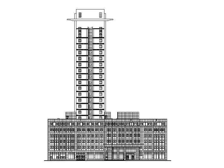 [河南]知名金融中心综合办公大楼外立面改造建筑施工图