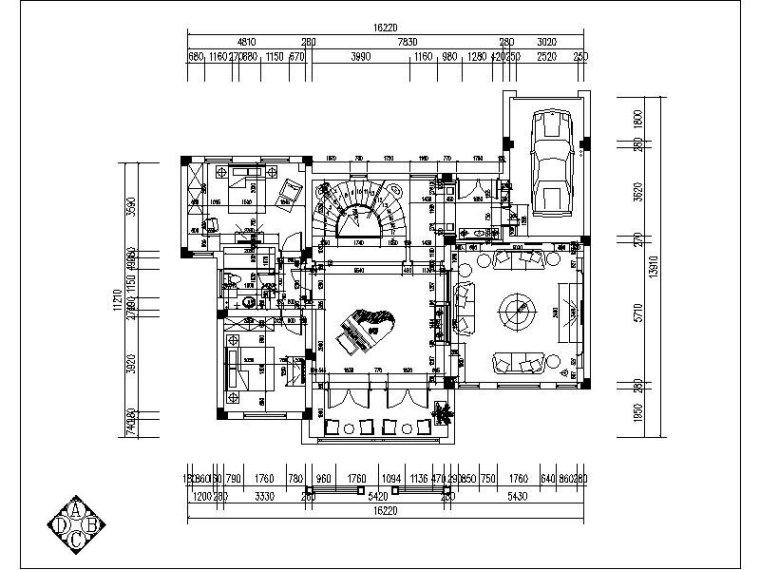 [浙江]一套详细完整的中式别墅设计施工图(含效果图)