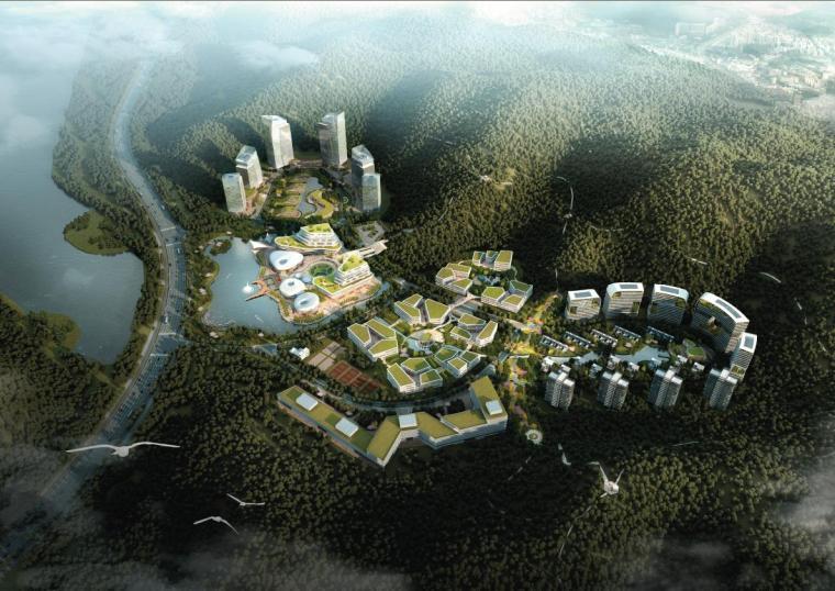 [深圳]高層園林式布局塔式研發辦公樓建筑方案文本