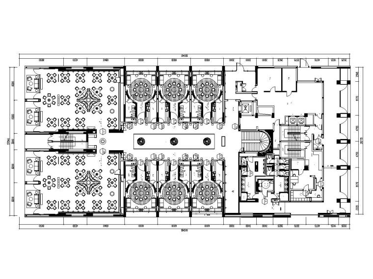 [厦门]金螳螂——大型新中式餐厅装修施工图(附效果图+ppt文案)