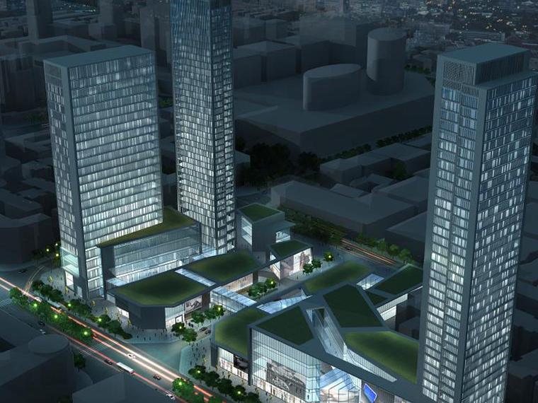 [成都]SOM铁狮门晶融汇中央商务区建筑设计方案文本