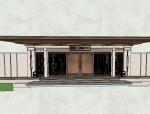 新城金越公馆入口大门模型设计(新中式风格)