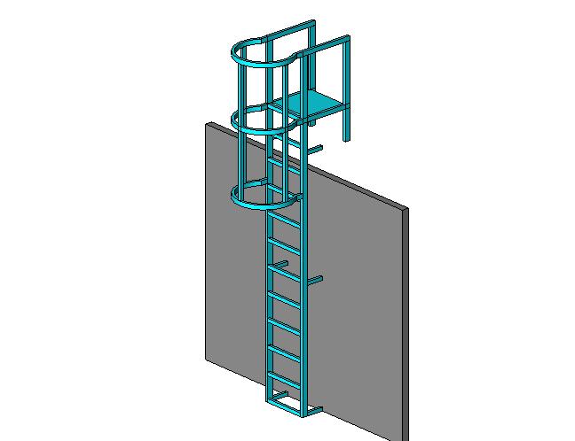bim软件应用-族文件-直爬梯