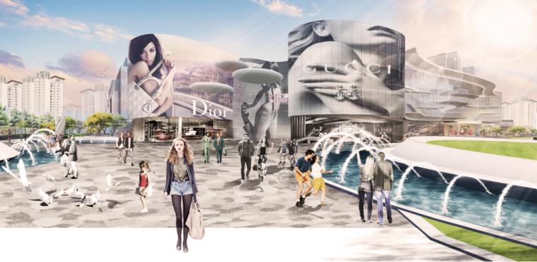 [浙江]宁波银泰匯城市规划景观概念性设计(现代风格)_14