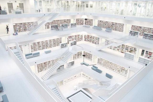 德国斯图尔特城市图书馆第2张图片
