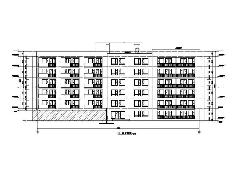 [吉林]多层框架剪力墙结构度假区住宅建筑施工图_1