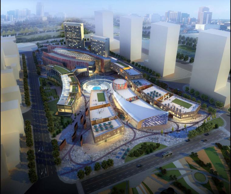 [浙江]高层江南水乡中高档商业综合体建筑设计方案文本