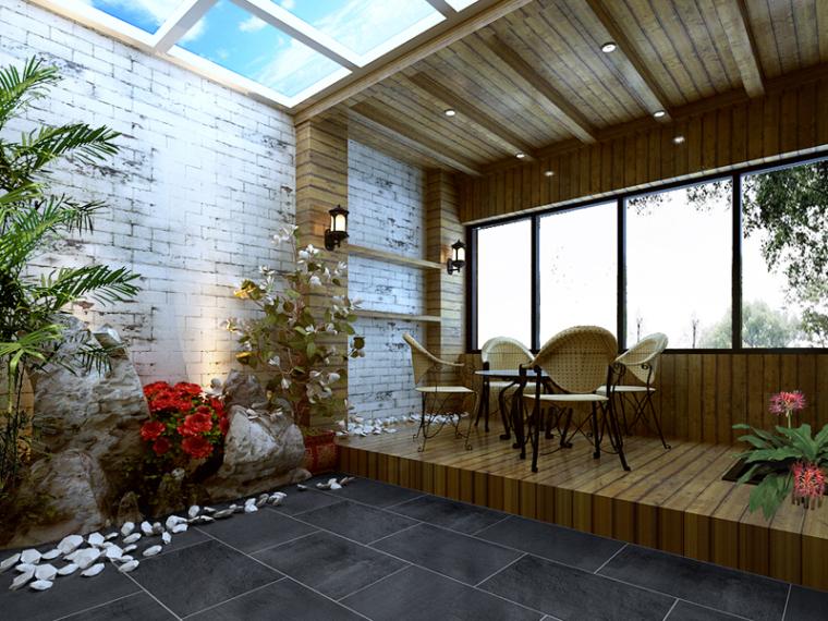 花园阳光阳台3D模型下载