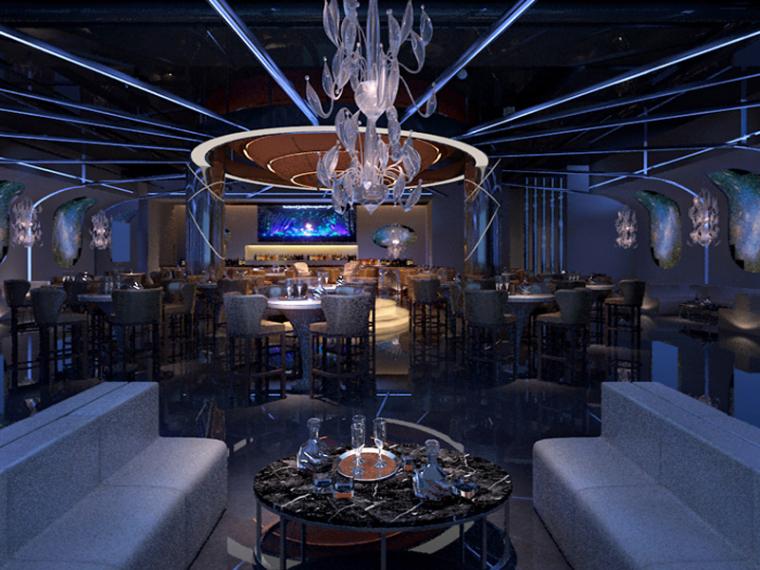 现代酒吧3D模型下载