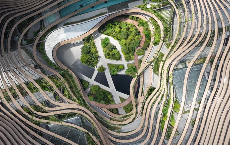 高层建筑打造绿色心脏,新加坡一号码头设计