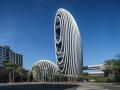 基隆河畔的绿色办公建筑 - 砳建筑,台北 / Aedas