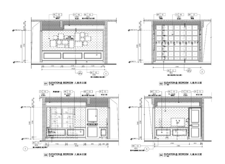 [浙江]某欧式风格四层别墅室内装修设计施工图