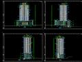 高层综合商住大厦建筑设计方案(施工图CAD)