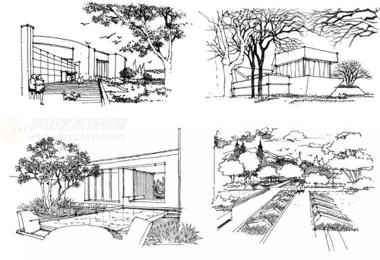 作为景观设计师必须掌握的景观线稿表现_21