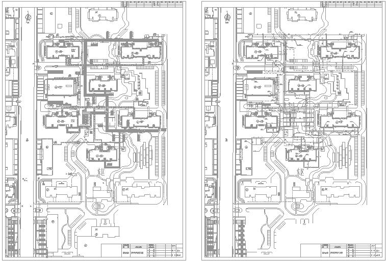 北京某小区室外综合管线及道路工程预算书(含CAD图纸及广联达软