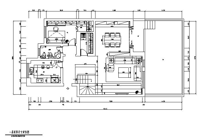 一层家具尺寸定位图