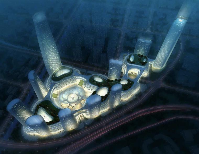 [江苏]南京顶级广场商业购物中心建筑方案概念规划设计文本