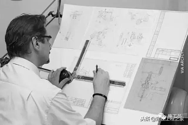 没有CAD的年代,施工图从哪里来?_1