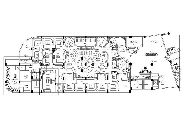 某大型酒吧内部装修全套CAD施工图