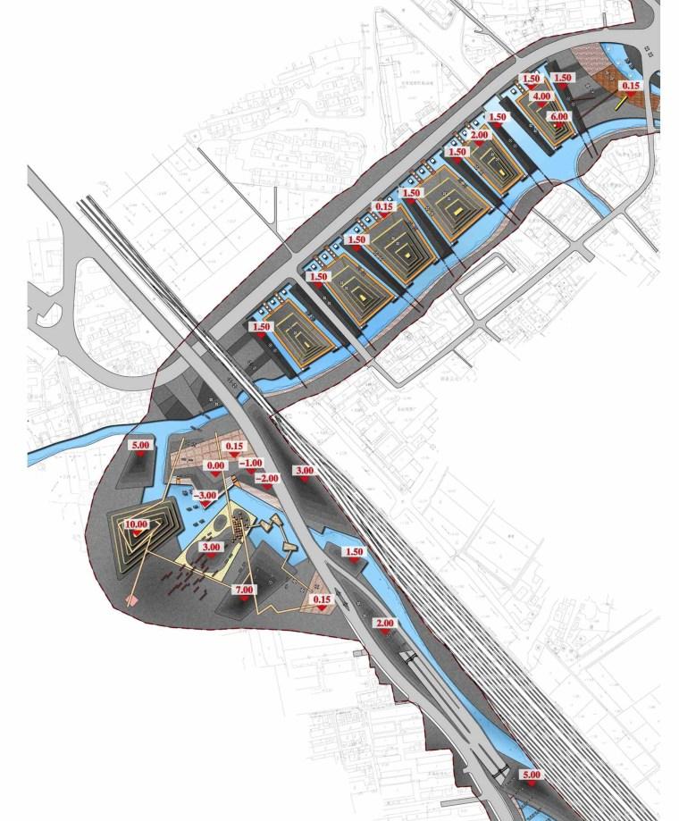 [江苏]苏州市沪宁高速公路西出入口景观规划方案设计(现代风格)-B段高程