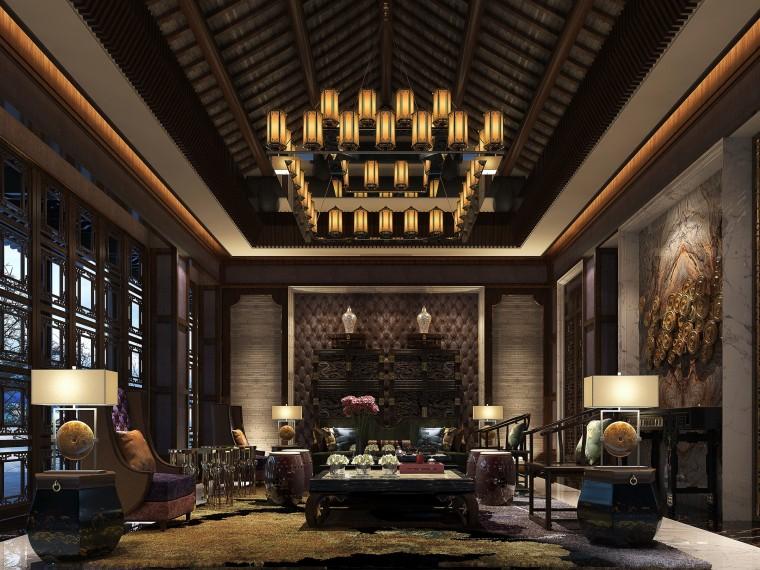 新中式风格太湖山庄概念设计方案文本