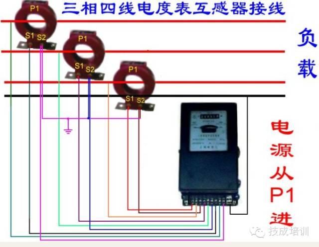 配电柜上电流表与互感器的接线图_8