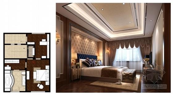[山西]豪华欧式风格三层别墅室内装修设计方案主卧