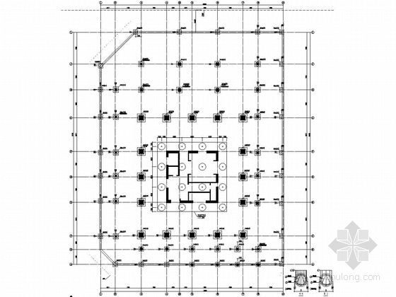 [深圳]31层框架核心筒结构酒店商务办公楼结构施工图(单栋超高层)