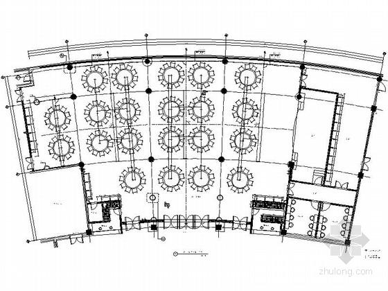 [福建]典雅度假酒店宴会厅及休息厅施工图(含效果)